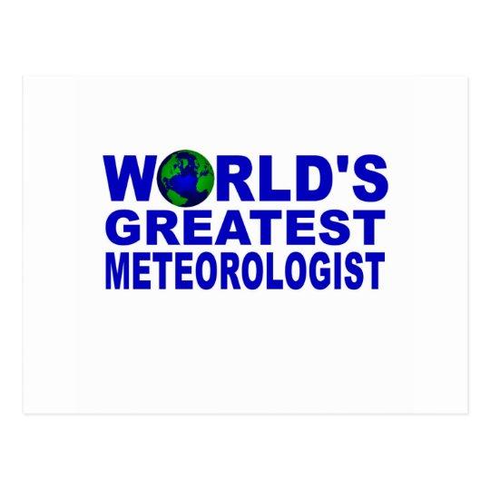World's Greatest Meteorologist Postcard