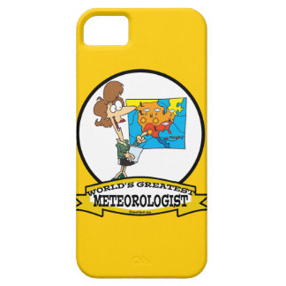 WORLDS GREATEST METEOROLOGIST WOMEN CARTOON iPhone SE/5/5s CASE