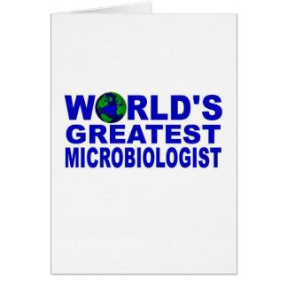 World's Greatest Microbiologist Card