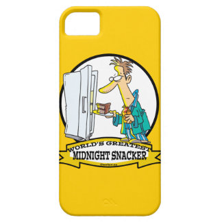 WORLDS GREATEST MIDNIGHT SNACKER MEN CARTOON iPhone SE/5/5s CASE