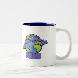World's Greatest Mimi Two-Tone Coffee Mug