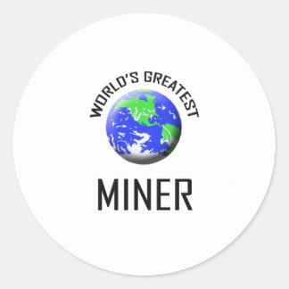 World's Greatest Miner Classic Round Sticker