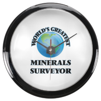 World's Greatest Minerals Surveyor Fish Tank Clock