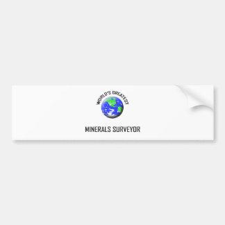 World's Greatest Minerals Surveyor Bumper Sticker