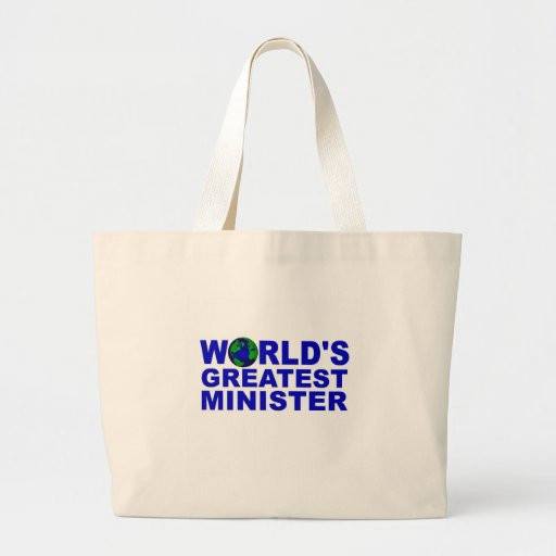 World's Greatest Minister Canvas Bags
