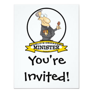 WORLDS GREATEST MINISTER CARTOON CARD