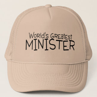 Worlds Greatest Minister Trucker Hat