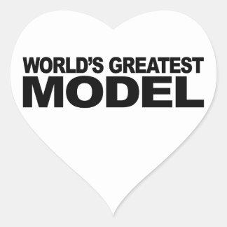 World's Greatest Model Heart Sticker