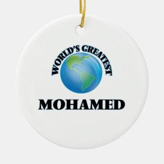World's Greatest Mohamed Christmas Ornament