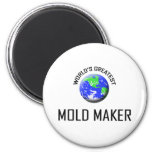 World's Greatest Mold Maker 2 Inch Round Magnet