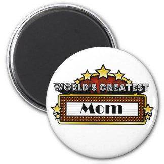 World's Greatest Mom 2 Inch Round Magnet