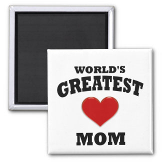 World's Greatest Mom 2 Inch Square Magnet
