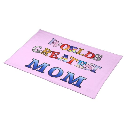 Worlds Greatest Mom American MoJo Placemat