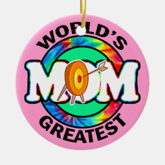 World's Greatest Mom; Archery Ceramic Ornament