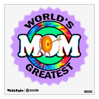 World's Greatest Mom; Archery Wall Decal