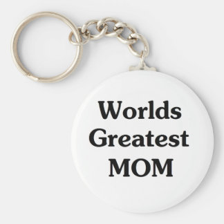 Worlds Greatest Mom Basic Round Button Keychain