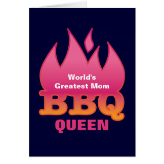 World's Greatest Mom BBQ QUEEN Greeting Card