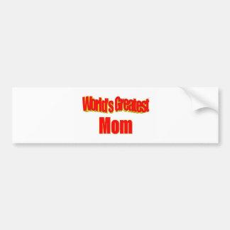 World's Greatest Mom Bumper Stickers