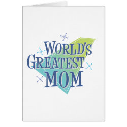 Greeting Card with World's Greatest Mom design