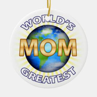 World's Greatest Mom Ceramic Ornament
