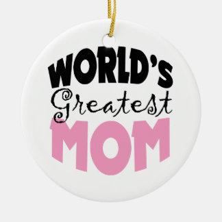 Worlds Greatest Mom Christmas Ornament