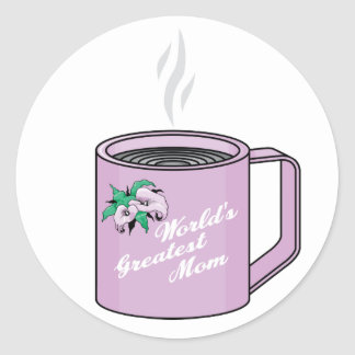 World's Greatest Mom Classic Round Sticker