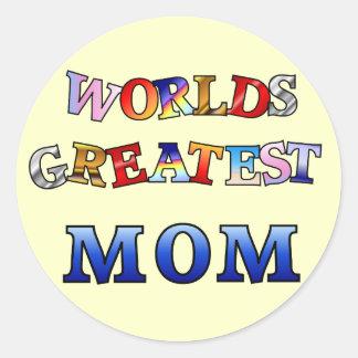Worlds Greatest Mom Classic Round Sticker