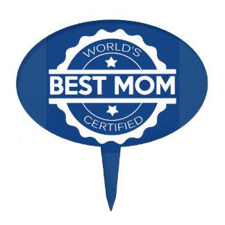 Worlds greatest mom design cake topper