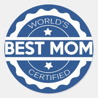 Worlds greatest mom design classic round sticker