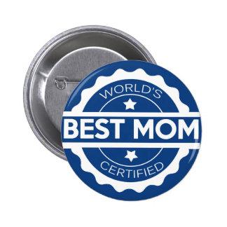 Worlds greatest mom design pinback button