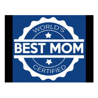 Worlds greatest mom design postcard