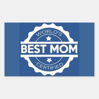 Worlds greatest mom design rectangular sticker