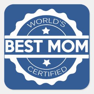 Worlds greatest mom design square sticker