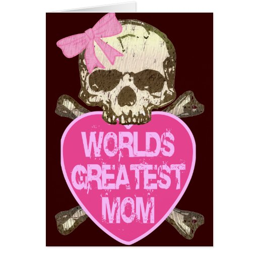 World's Greatest Mom Gothic Greeting Card