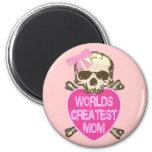 World's Greatest Mom Gothic Fridge Magnets