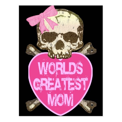 World's Greatest Mom Gothic Post Card