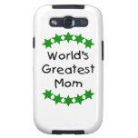 World's Greatest Mom (green stars) Samsung Galaxy S3 Cases