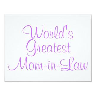 Worlds Greatest Mom In Law Custom Invitation