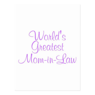 Worlds Greatest Mom In Law Postcard