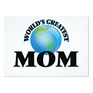 "World's Greatest Mom 5"" X 7"" Invitation Card"