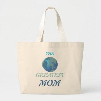 World's Greatest Mom Jumbo Tote Bag