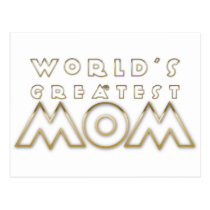 World's Greatest Mom (Metal Outline) Postcard