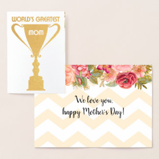 World's Greatest Mom! | Mother's Day Foil Card