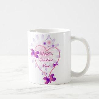 World's Greatest Mom Mug Pink Butterflies