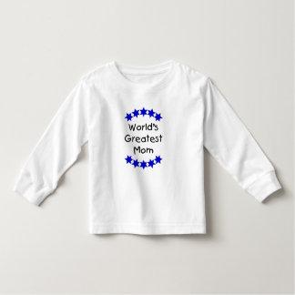 World's Greatest Mom (navy stars) Tee Shirt