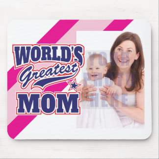 World's Greatest Mom Personalized Photo Mouse Pad