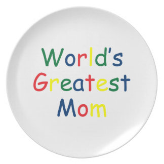 World's Greatest Mom Dinner Plate