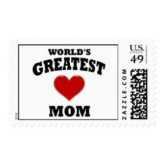 World's Greatest Mom Postage Stamps