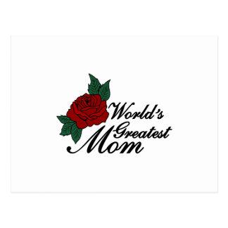 Worlds Greatest Mom Postcard