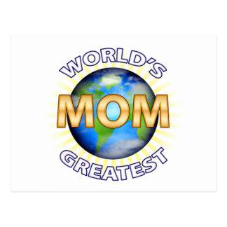 World's Greatest Mom Postcard
